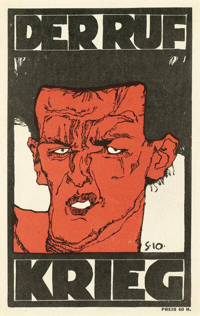 "Egon Schiele, 'Cover ""Der Ruf""', 1912"