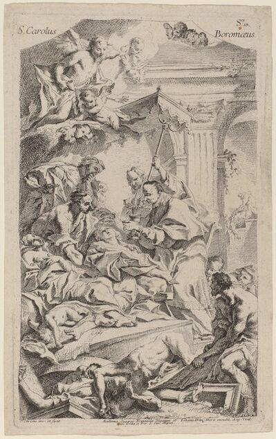Carlo Innocenzo Carlone, 'San Carlo Borromeo Giving Last Communion to Victims of the Plague'