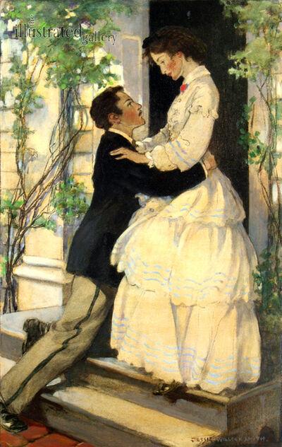 "JESSIE WILLCOX SMITH, '""Men Kneeling to Woman in Flounced Dress"" Page 299', 1926"