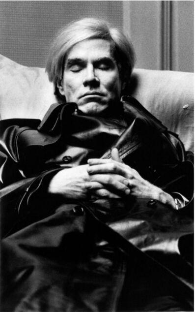 Helmut Newton, 'Andy Warhol Paris', 1974