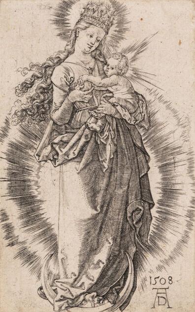 Albrecht Dürer, 'Dürer's Coat of Arms, 1523 and Virgin on the Crescent with Starry Crown, 1508', 1508