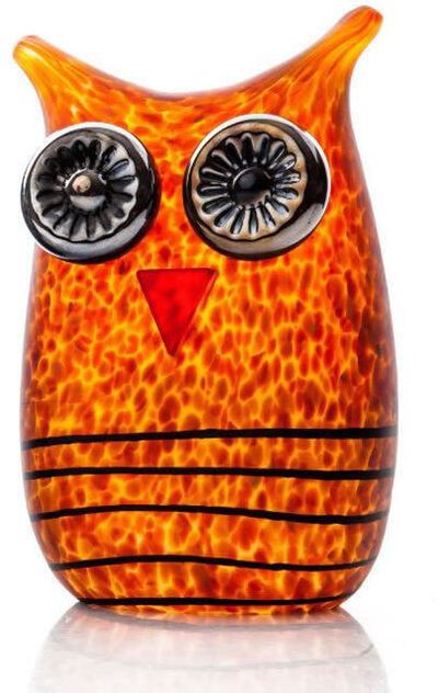 Borowski Glass, 'MINI OWL Amber', 2019