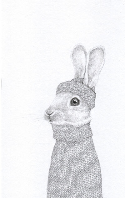 Jackie Case, 'Grey Knitted Bunny', 2020