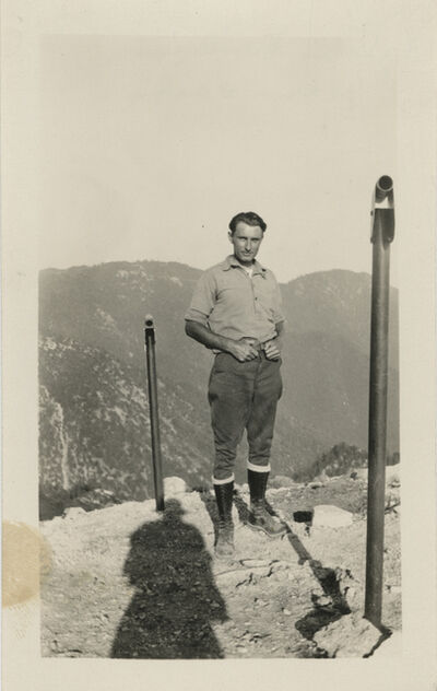 Unknown Artist, 'Untitled [Shadow, man on the mountain]'