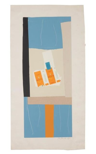 Robert Motherwell, 'Harvest, with Orange Stripe', 1973