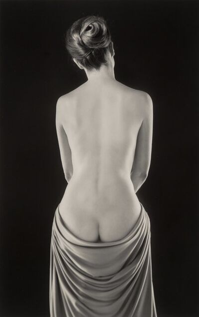 Ruth Bernhard, 'Draped Torso', 1962