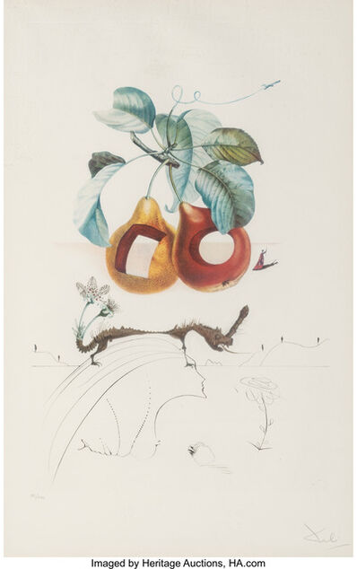 Salvador Dalí, 'Fruits Trouees (Fruit with Holes), from Les fruits', 1969