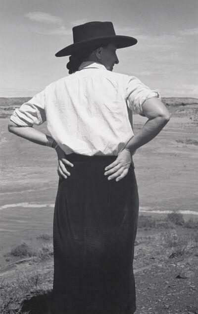 Ansel Adams, 'Georgia O'Keeffe in the Southwest', 1937