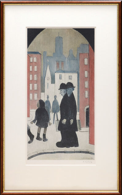 L.S. Lowry, 'Two Brothers', 1972