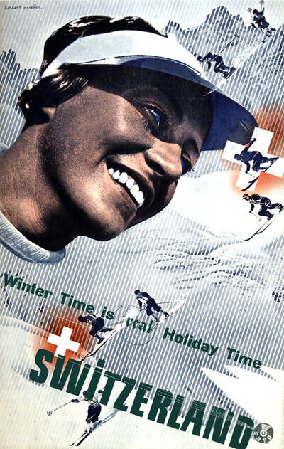 Herbert Matter, 'Switzerland - Winter Time is the Real Holiday Time', ca. 1935