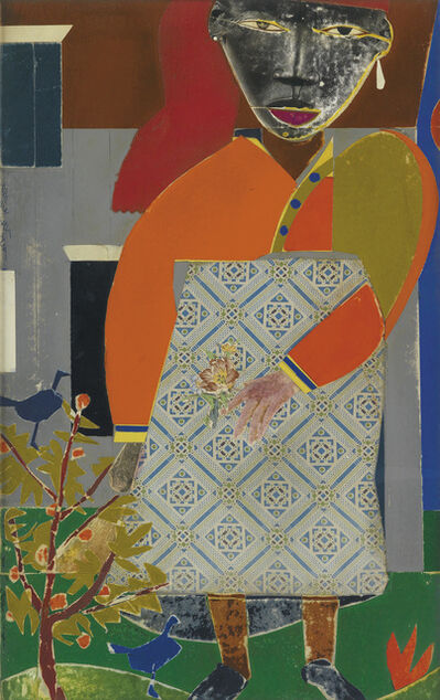 Romare Bearden, 'Girl in a Garden.', 1972