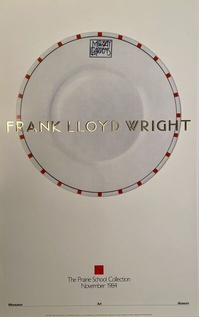 Frank Lloyd Wright, 'Frank Lloyd Wright , The Prairie Collection, Milwaukee Museum of Art Rare Exhibition Poster', 1984