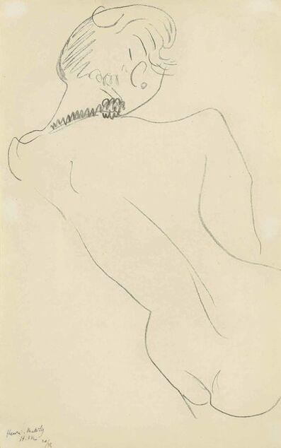 Henri Matisse, 'Figure de dos au collier noir', 1906