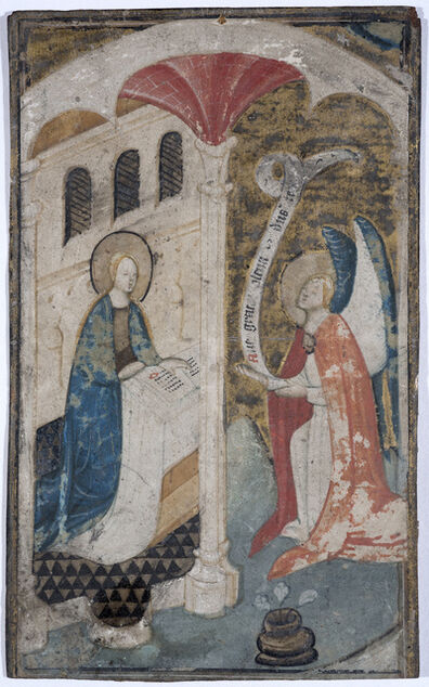 Flemish school, 'Annunciation from an illuminated manuscript', ca. 15th century