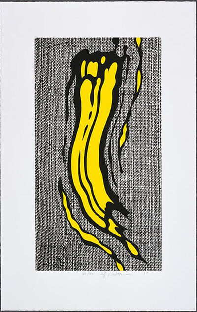 Roy Lichtenstein, 'Yellow Brushstroke', 1985