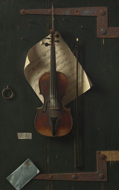 William Michael Harnett, 'The Old Violin', 1886