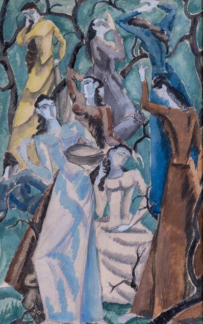 Max Weber, 'Women in Garden', 1912
