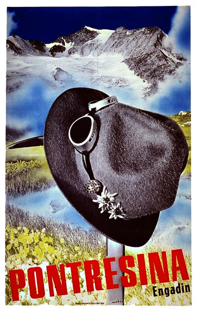 Herbert Matter, 'Pontresina - Hat on an Ice Pick', 1935