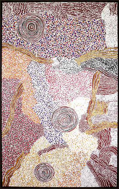 Bill Whiskey Tjapaltjarri, 'Rockholes near the Olgas', 2008