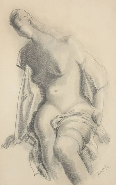 Alexander Archipenko, 'Seated Nude with Drapery', 1925