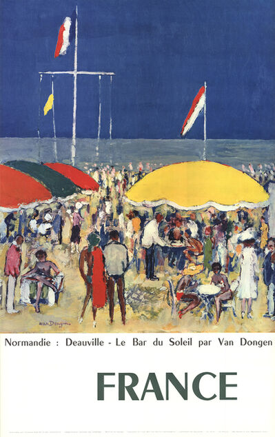 Kees van Dongen, 'Normandie-Deauville, Le Bar du Soleil', 1960