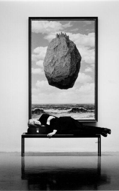 Steve Schapiro, 'René Magritte sleeping at MOMA', 1965