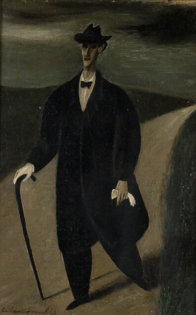 Gertrude Abercrombie, 'Man with Gloves on a Road'
