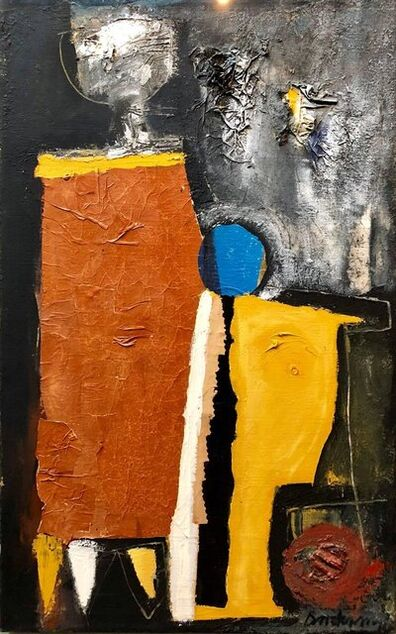 David Duany, 'Latin American Figurative Abstract Expressionist Cuban Oil Painting', 20th Century