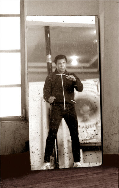 Michael Gaffney, 'Muhammad Ali Mirror Boxing in Gym  ', ca. 1977