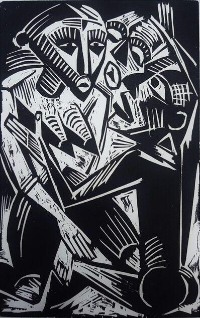 Max Pechstein, 'Weib Vom Manne Begehrt (Woman Desired by Man)', 1919