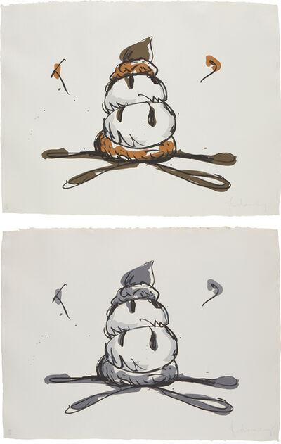 Claes Oldenburg, 'Profiterole; and Profiterole-Gray State', 1990