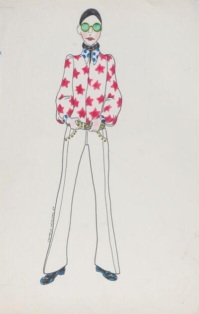 Delia Cancela, 'Chica pelo negro con camisa de estrellas', 1967