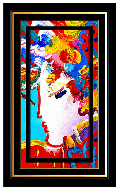 Peter Max, 'PETER MAX Original PAINTING on CANVAS BLUSHING BEAUTY Profile SIGNED ACRYLIC', 21st Century
