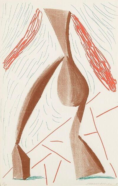 David Hockney, 'Walking, June 1986 (signed)', 1986