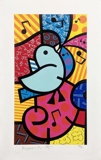 Romero Britto, 'SONG BIRDS (BLUE BIRD)', UNKNOWN