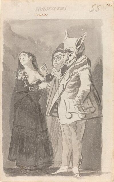 Francisco de Goya, 'Mascaras crueles (Cruel Masks) [recto]', 1796/1797