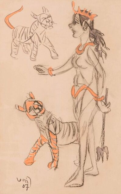 """K. G. Subramanyan, 'Untitled, Pastel & Charcoal on Paper by Modern Artist """"In Stock""""', 2007"""