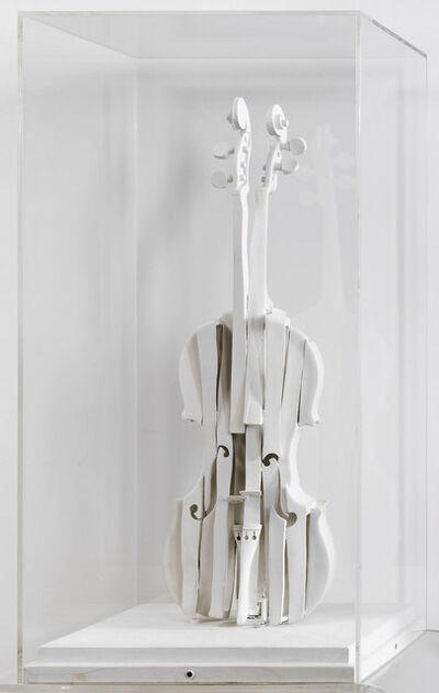 Arman, 'Violon Découpé Blanc', 1987