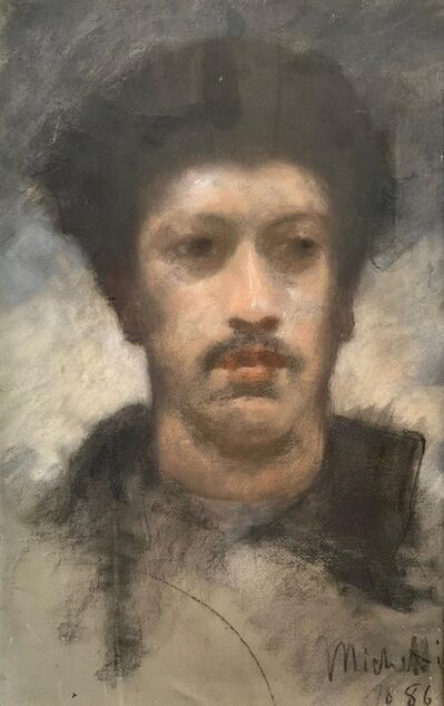 Michetti Francesco Paolo, 'Selfportrait', ca. 1875