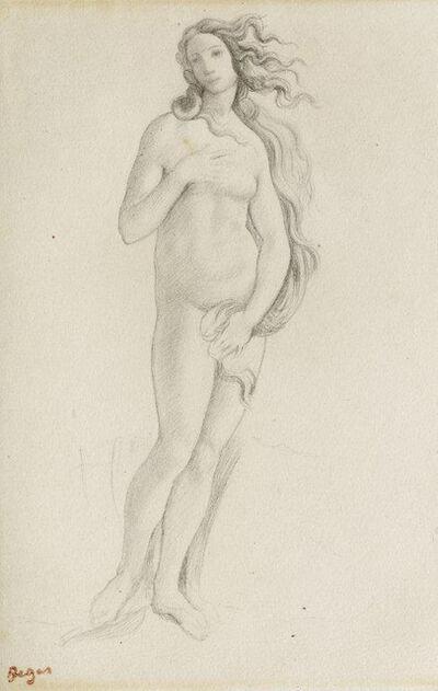 Edgar Degas, 'Venus (nach Botticelli)', 1859