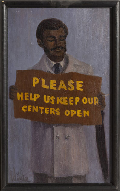 William Waithe, 'Please Keep Our Centers Open', ca. 1970