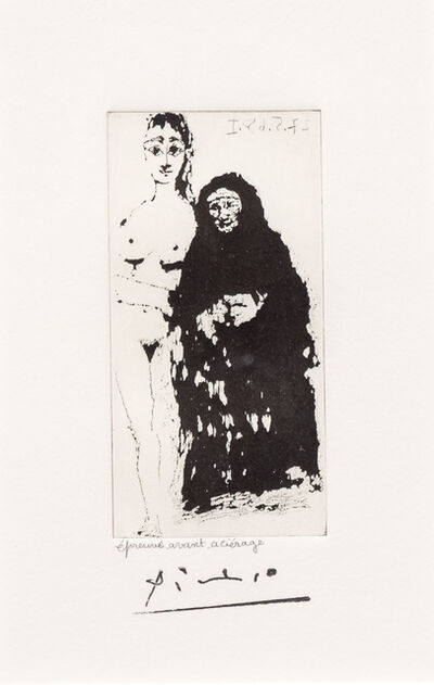 Pablo Picasso, 'Maja et Celestine, from the 347 Series', 1968