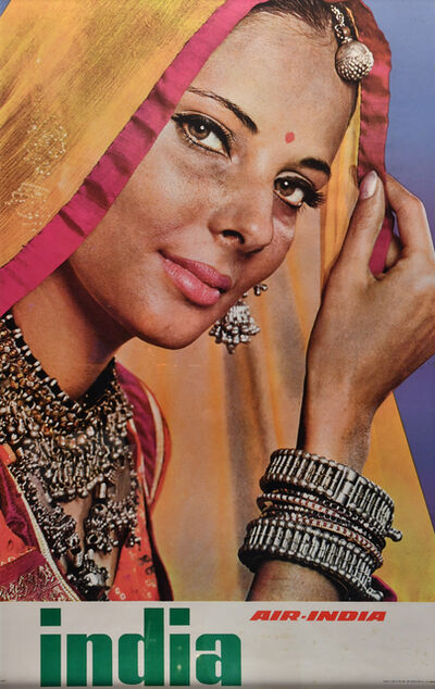 Vintage Travel Poster, 'India, Air India', c. 1960's