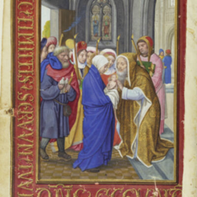 Simon Bening, 'The Presentation in the Temple', 1525-1530