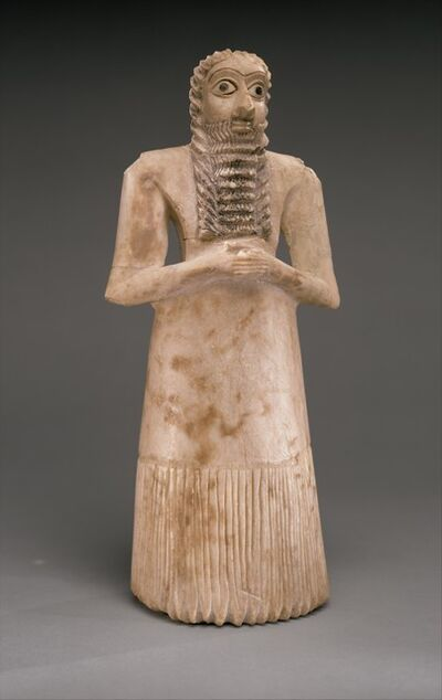 Unknown Sumerian, 'Standing male worshiper', ca. 2900–2600 B.C.