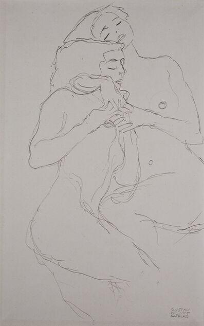 Gustav Klimt, 'Two Girls [Fünfundzwanzig Handzeichnungen]', 1919