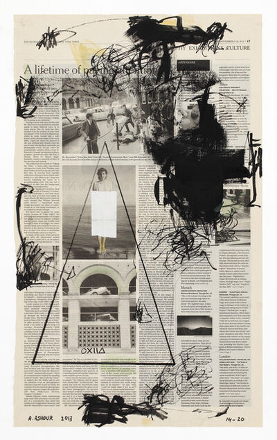 Abdulaziz Ashour, 'Forbidden #14 - The Global Edition of the New York Times – Friday - Sunday, November 17 - 18, 2013', ca. 2013