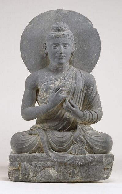 'Seated Buddha in the Attitude of Preaching', 2nd-3rd century