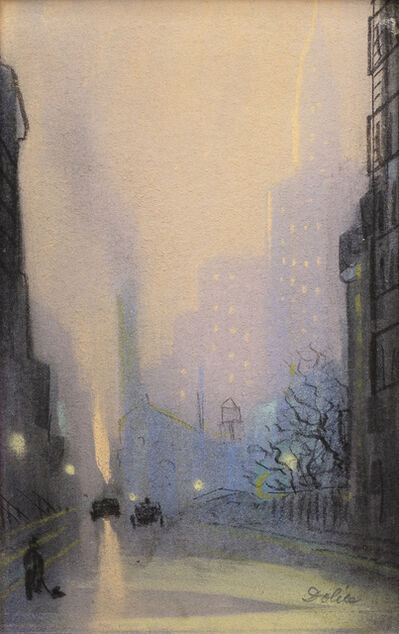 Leon Dolice, 'View of the Chrysler Building, New York, at Dusk', ca. 1930s