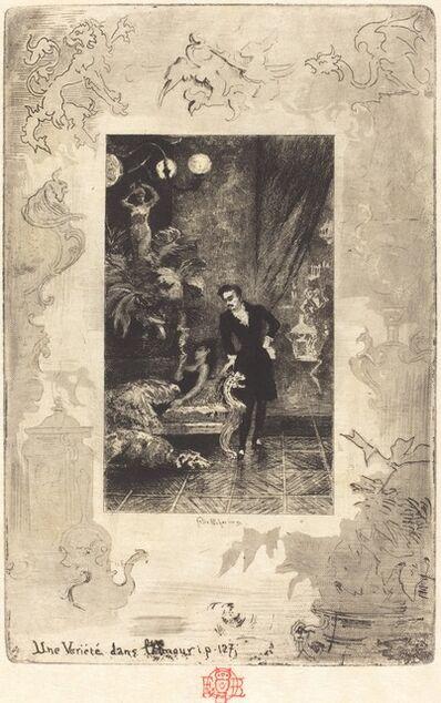 Félix Hilaire Buhot, 'Une Variété dans l'Amour (A Change of Heart)', 1879/1880